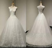 Wholesale Korean Simple Dress - 2017 Free Shipping High Quality Fashion Sexy Flowers Net Yarn Dress Skirt Korean Version Of The Bride Wedding Word Shoulder Wedding Dresses