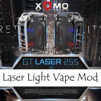 Wholesale Build Flash - 100% Authentic XOMO GT LASER 255 BOX MOD Built In 3500mAh Battery XOMO Box Mod Mechanical Mod Kit With LASER Flashing Light VS Smoant Rabox