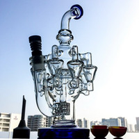 Wholesale recycler matrix bong for sale - Group buy High Quality Octopus Arms Glass Bongs Matrix Perc Recycler Oil Rigs Glass Unique Bongs Water Pipes Oil Dab Rigs With mm Joint OA01