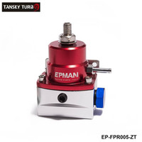 Wholesale TANSKY high performance AE Style Injected Bypas Fuel Pressure Regulator PSI Dadjustable Red Sliver AN6 AN6 EP FPR005 ZT