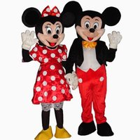 Wholesale Minnie Mouse Costumes For Adults - Hot For Mickey and Minnie Mouse Adult Mascot Costume Party Fancy Dress Free Shipping