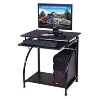 Office black workstations - Computer Desk PC Laptop Table Study Workstation Home Office Furniture Black New