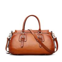 новые натуральные кожаные сумки оптовых-Wholesale-  Handbags Women Bags Designer Tote Bag Real Leather Crossbody Bag Vintage New Ladies purses and handbags Hobo dollar price