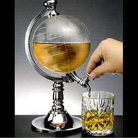 ingrosso pompe di birra-L'erogatore del liquore della bevanda a forma di globo della novità della bevanda beve la singola pompa metallica della pompa della birra del vino Trasporto libero di alta qualità