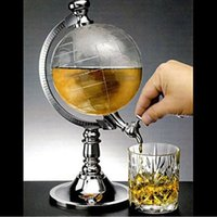 Wholesale Dispenser Beverage - Novelty Globe Shaped Beverage Liquor Dispenser Drink Wine Beer Pump Single Canister Pump High Quality Free Shipping
