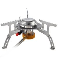 Wholesale Cookout Burner - Boundless Voyage Outdoor Camping Backpacking Gas Stove Foldable Cookout Hiking Burner Electronic Ignition Split with Pipe Stove BV1002
