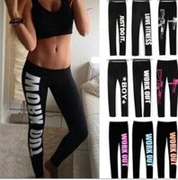Wholesale Women s Leggings Cheaper Bottoms Fitness Work Out sport Leggings Black Breathable Stretchy Printed gothic legging Pants leggins