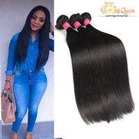Wholesale Soft Bundle - Grade 7A Virgin Brazilian Straight Hair Unproceesed Brazilian Virgin Straight Hair Bundles 3Pcs Brazilian Virgin Hair Weave Bundles Soft