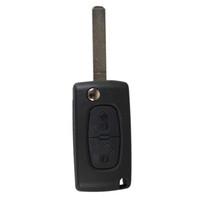 Wholesale car remotes cases resale online - 2 Buttons Key Shell Remote Key Fob Case For CITROEN C2 C3 C4 C5 C6 C8 Tire Pressure Alarm car styling