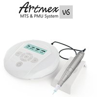 Wholesale Intelligent Care - Derma Pen Powerful Tattoo Machine Electric Intelligent Microneedle Processing Semi Permanen Lip Bleaching Skin Care Anti Artmex V6
