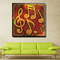 Wholesale Music Notes Painting - ZZ1017 modern abstract canvas art music note canvas prints art oil painting for livingroom bedroom decoration unframed
