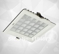 Wholesale Grill Grids - Wholesale- Wholesale - Embedded 25W LED Grid grill Lattice grille Downlight used for kitchen led recessed down light+led driver Free Ship