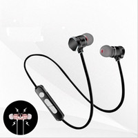 Wholesale Suction Plug - Motion wireless bluetooth headset Binaural stereo Running ear plug Metal magnetic suction Bluetooth Support music voice control freeshipping