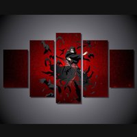 Wholesale Painting Canvas For Kids - New Anime Naruto Uchiha Itachi Canvas Painting Wall art HD Printed Poster For Kids room 5 Pieces No frame