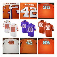 Wholesale Muse Black - Cheap Clemson Tigers College Football 18 T.J. Chase 19 Tanner Muse 42 Christian Wilkins 90 Dexter Lawrence White Purple Stitched Jerseys