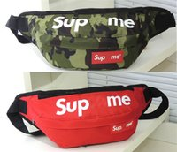 Wholesale Cheap Sports Bag - 13 Colors Cheap Supreme X Pockets Chest package Best AAA+ Supremes Christopher 34x13x47cm Men Women School Bag Sport Outdoor Packs Bags
