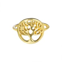 Wholesale Unique Stackable Rings - GORGEOUS TALE Unique Tree of Life Stackable Ring Rose Gold Color Zinc Alloy Inspiration Jewelry Rings For Women and Men