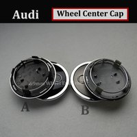 Wholesale A4 Autos - Good quality Auto Wheel Center Hub Cap 69MM 2.72INCH FOR AUDI gray black Car Emblem auto accessories car style for A4 A5 A6 A7 A8 R8 S RS