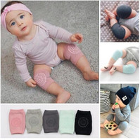 Wholesale Crawling Knee - Baby Knee Pads Crawling Cartoon Safety Cotton Protector Kids Kneecaps Children Short Kneepad Baby Leg Warmers 8 Colors DHL Free Shipping