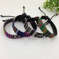 Wholesale Traditional Folk Art - Hot sell ! 36pcs The New fashion Folk-Custom cloth art Bracelet men and women Adjustable bracelet B-19