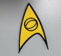 fabrication de badges achat en gros de-GROSSES SOLDES! STAR TREK MEDICAL AMERICAN SCIENCE FICTION EMBROIDERY FER SUR PATCH BADGE 10pcs / lot FAIT EN Chine usine haute quanlity