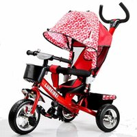 Wholesale Tricycle Stroller Bike - Wholesale- Baby pram child tricycle trolley baby stroller bb carriage bike bicycle for 6 month--6 years old folding Portable stroller baby