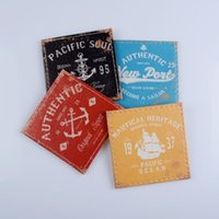 Wholesale Square Pink Cup - Wholesale- LINKWELL Set of 4 10x10cm Authentic Sea Pacific Soul Nautical Heritage Bar Coaster Table Cup Holder Drink Placemat Mat Tabletop