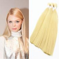 Wholesale Cheap Bulk Brazilian Hair - Explosion Models Brazilian Bulk Hair Blonde Cheap Hair Extensions Mix Size 3pcs Lot 14Inch To 30Inch Braids Human Hair Extensions Bulk