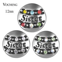 Wholesale Petite Small - Vocheng Snap Jewelry Accessory Sister Small Petite Noosa Chunks Ginger Snaps 12mm 3 Colors Snap Charms Vn-1825