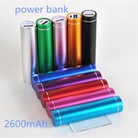 Wholesale Lipstick Portable Chargers - 100Pcs Fashionable aluminum Lipstick 2600 mAh Power Bank Portable Backup External Battery USB Mobile charger Mobile Power Supply A-YD