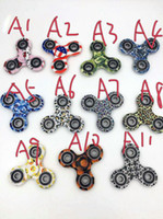 Skateboard EVA 12-14 Years HOT11 colors Good Quality 3D Camo Triangular Fingertips Spinner Colorful Fidget Hand Spinner EDC Toy Gift Relieve Stress With Retail Box