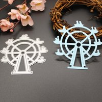 Wholesale Cutting Wheel For Metal - New Ferris Wheel Design Metal Cutting Dies Stencils For Scrapbooking DIY Album Paper Cards Decoration Embossing Folder Die Cuts