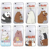 Cute Funny Bears Panda Animals Cartoon Soft Clear Housse pour téléphone Coque Fundas pour iPhone 7 7Plus 6 6S 6Plus 5 5S SAMSUNG