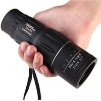 zoom lensler gece görüş toptan satış-16x52 Çift Odak Yakınlaştırma Monoküler Dürbün Optik Lens Teleskop Gündüz Gece Görüş telescopio dürbün açık avcılık için