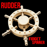Wholesale classic steering wheel - 2017 Boat Rudder Hand Spinner Edc Decompression Toy Helmsman Fidget Spinner Steering Wheel Design Fidget Toy Classic Style