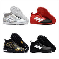 Wholesale Indoor Turf Football Shoes - Mens Turf high Top football Soccer shoes 2017 ACE 17.3 Primemesh TF IN indoor soccer cleats ACE football boots Original purecontrol 17