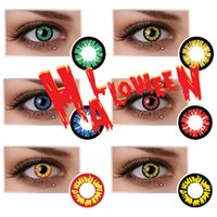black werewolf - Werewolf Crazy Contact Lens Vampire Halloween Contacts Red Crazy Lens Ready Stock