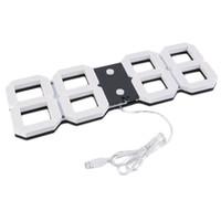 Wholesale Digital Large Display Timer - Large 3D Modern Digital LED Wall Clock 24 12 Hour Display Timer Alarm Worldwide Store
