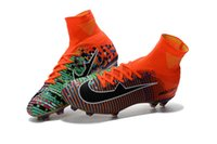 Wholesale Limited Soccer Cleats - 2017 EA Sports launched limited Edition CR7 Football shoes Superfly 39-45 V FG soccer shoes Mercurial x EA SPORTS Soccer Cleats
