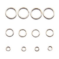 Wholesale Jump Sale - All Size Hot Sale Open Jump Rings Jewelry Findings Components Platina Color Jump Rings for DIY 100g bag JR03