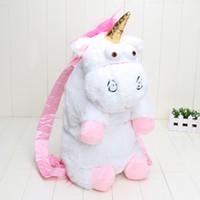 Wholesale Plush White Unicorn - 50cm Unicorn Backpack unicorn bag plush unicorns toy backpack toys for girls kids