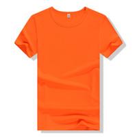 Wholesale Basic Black T Shirt - Customs Solid Color Quick Dry T-shirt Printing LOGO Embroidery Basic Tees Men Fashion Ball Sport T shirts