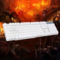 K1 schlanke Design-Suspension Tastatur Tasten mechanische Tastatur USB-Schnittstelle unterstützt WINDOWS professionelle Gaming-Tastatur - weiß rot