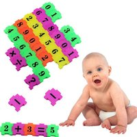 Wholesale 36Pcs Baby Child Number Symbol Puzzle Foam Maths Educational Toy Gift d metal puzzles learning education toys