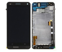 Wholesale M7 Lcd - Black White For HTC ONE M7 LCD Touch Screen Digitizer for htc m7 801e display assembly Frame Replacement Pantalla