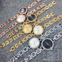 Wholesale Golden Bronze - 2017 New model Fashion lady watches women watch silver golden table black Bracelet luxury Wristwatches Brand female clock free shipping