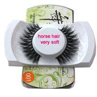 Wholesale Hair Band Making - 001 Soft Horse Hair Eyelashes natural style horse fur lashes makeup soft band Handmade Real Luxurious Natural Horse Hair Soft Eye Lash