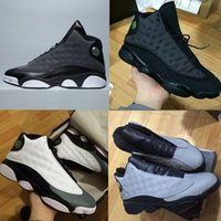 Wholesale Famous Massage - Wholesale Famous Trainers 13 XIII Air Retro 13 Hologram Mens womens Sports Basketball Shoes Barons (white black grey teal)