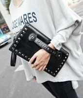 Wholesale multipurpose handbag - Wholesale-New Summer Style Multipurpose Fashion Handbag Shoulder Ladies Bags Crossbody PU Leather Rivet Women Cool Band Designer Handbags