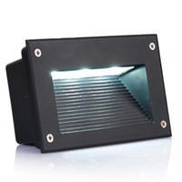 su geçirmez basamaklı ışıklar toptan satış-Yeni Gömme Led Zemin Işıkları 3 W 5 W Merdiven Aydınlatma Led Adım Işık Su Geçirmez Açık Gömme Duvar Lambası Işıkları 110-130lm / W SMD5730